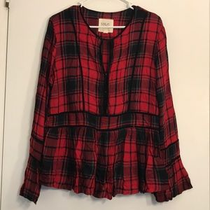 Thread & Supply Red Plaid Shirt